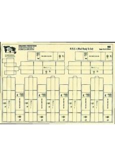 Set cutii ratii militare MRE (carton), 120mm