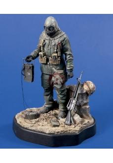 Figurina soldat  SUA in echipament CBR, , 120mm