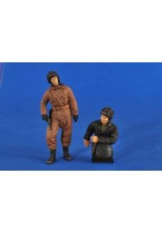 Figurine tanchisti sovietici, 120mm
