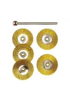 28962 Set perii din bronz navomodelism pentru masini de gaurit, frezat, slefuit,, Proxxon
