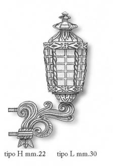 4338/01 Felinar pupa navomodele, Tip H, 22mm