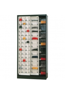 80 Dulap cutii transparente depozitare, 890x400x1900mm