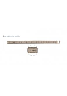 Rigla flexibila din INOX, 1000 x 24 x 0.5 mm