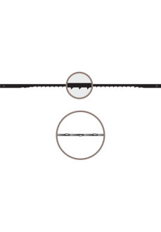 Panze traforaj cu pin, NIQUA, SPEEDY 5 - 2.8 DINTI/CM