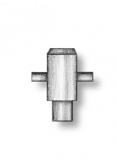 4911 Set 2 babale in cruce pt navomodele, 4mm, Amati