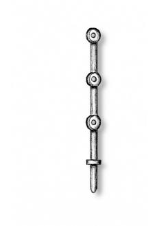 4951 Set 10 pontili de balustrada cu trei gauri, 8mm, Amati
