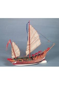 Sampang, Vas de pescuit si transport chinezesc, Navomodel Amati, Lungime 34cm